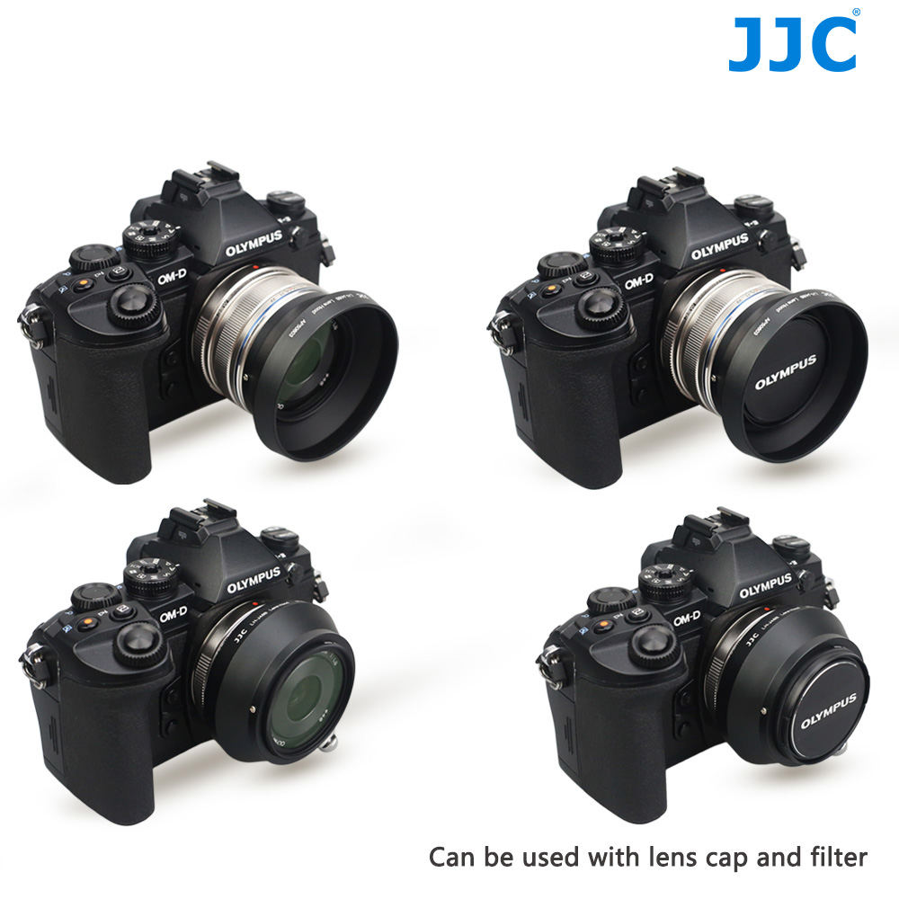 JJC Metal Lens Hood 46mm for OLYMPUS M.ZUIKO DIGITAL 17mm F1.8 replaces LH-48B цены онлайн