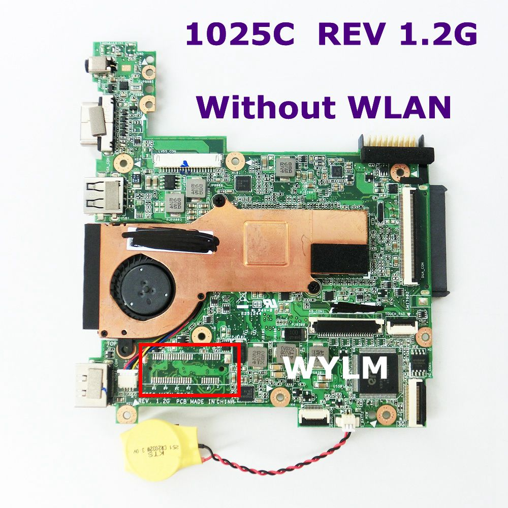 1025C Without LAN mainboard REV 1.2G For ASUS 1025C Laptop motherboard MAIN BOARD DDR3 100% Tested Working Well free shipping цена