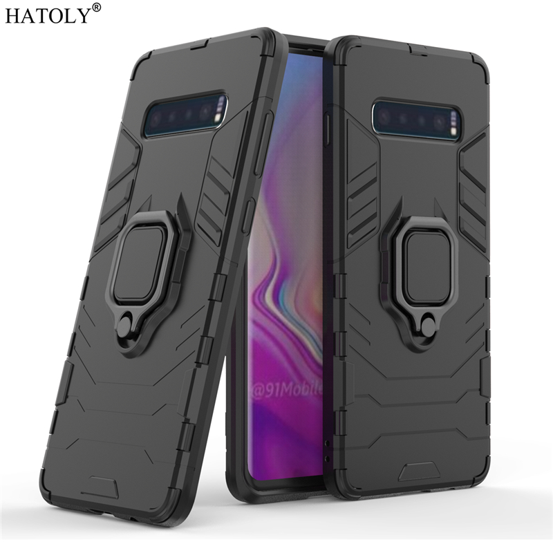For Samsung Galaxy S10 Plus Case Cover for Finger Ring Phone Armor