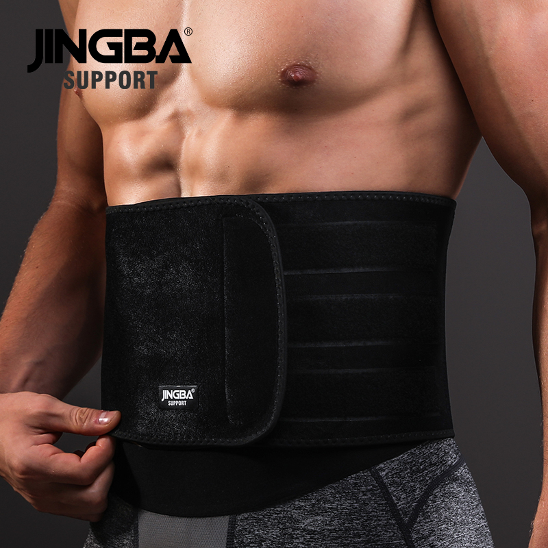 JINGBA SUPPORT Waist trimmer Support Slim fit Abdominal Waist sweat belt Sports Safety Back Support Sports protective gear