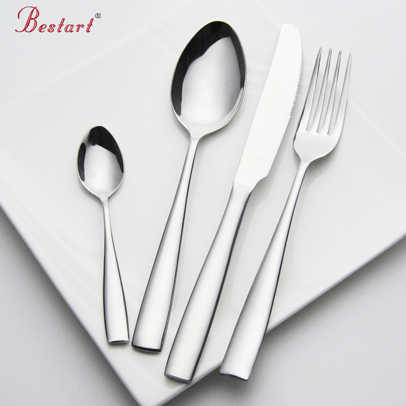 Set Cutlery Stainless Steel 24 pieces Service 6 Person Silver Knife Fork Set Restaurant Cutlery Dinnerware