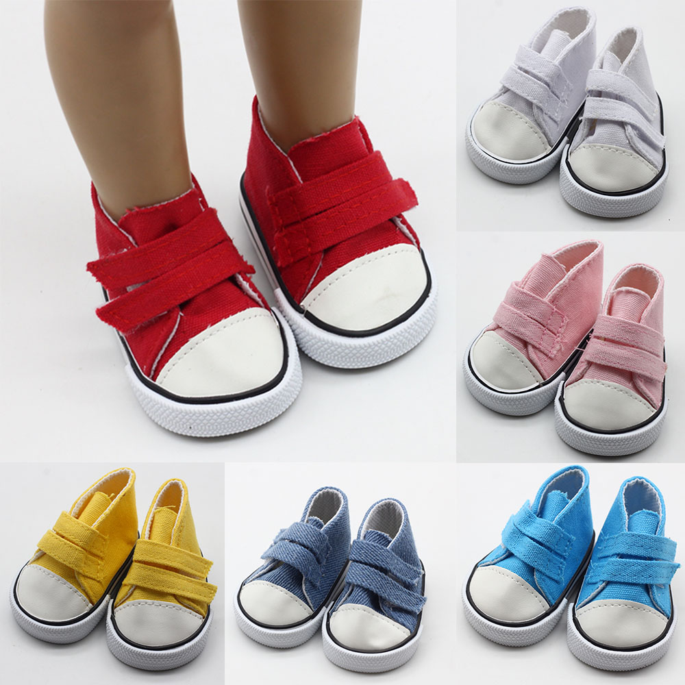 American Doll Shoes Canvas Shoes For 18 Inch Girl Dolls Mini Fashions Shoes For 43cm Baby Dolls Doll Accessories