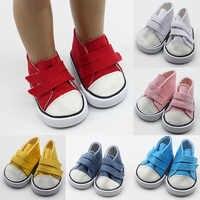 Zapatos de muñeca americana zapatos de lona para muñecas de 18 pulgadas Mini zapatos de moda para 43cm Accesorios de muñecas de bebé