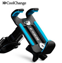 CoolChange Universal Bicycle Phone Stand Anti-Slip Bike Handlebar Mount Holder Adjustable For Cellphone Cycling Bracket