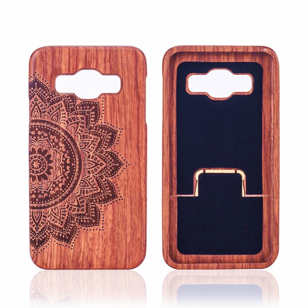 Para samsung galaxy a5 2015 a500 a500f a5000 case cubierta 100% bienes de madera