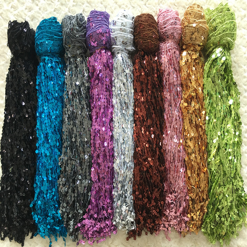 (5.8yards/lot) 40cm sequins tassels patchwork zakka tecido for sewing cloth dance dress accessory fringe zakka handmade DIY