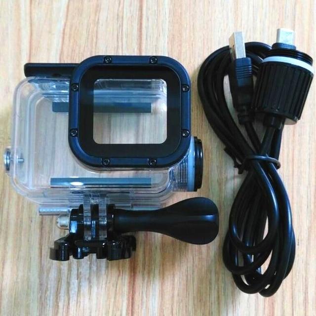 Accessori per fotocamere sportive custodia impermeabile di ricarica per Gopro Hero 7 6 5 custodia per caricabatterie nera + cavo USB per moto