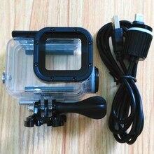 Spor kamera aksesuarları şarj su geçirmez kılıf için Gopro Hero 7 6 5 siyah şarj kabuk konut + USB kablosu motosiklet
