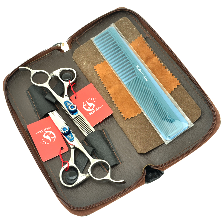 6.0 MeiSha JP440C Salon Hair Cutting Scissors Thinning Shears Professional Hairdressing Scissors Set Best Hair Shears,HA0255