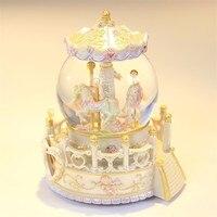 Muzik Kutusu Typewriter Muziek Carrusel Spieluhr Musically Ballerina Caixa Snow Ball De Carousel Caja Musical Musica Music Box