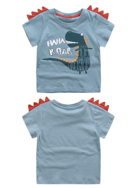 HTB1Fe3bSFXXXXXOXXXXq6xXFXXXl - Cute Summer New Girls Boy T-shirt Children's Bottom Kids Lovely 3D Animal Cartoon Shirt Baby Clothes, Dinosaur/ Bear/ Elephant
