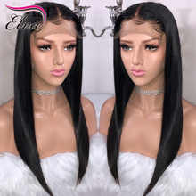 Elva Hair 250% Density 360 Lace Frontal Wig Pre Plucked With Baby Hair Straight Brazilian Lace Front Human Hair Wigs Remy Hair