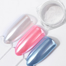 2g/box Diamond Pearl Nail Powder Manicure Shimmer Powders Mermaid Mirror Matt Pigment Glimmer Art Dust