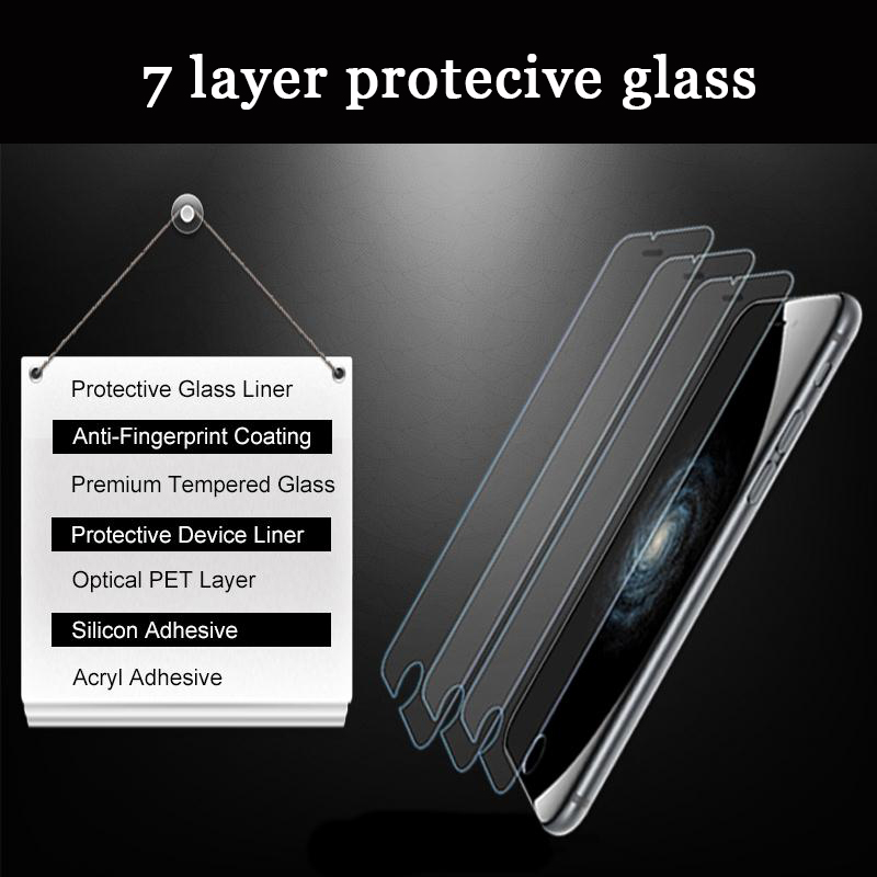 0.3mm 9H Premium Tempered Glass for iphone 7 8 plus Screen Protector for iphone 8 6 Plus ...