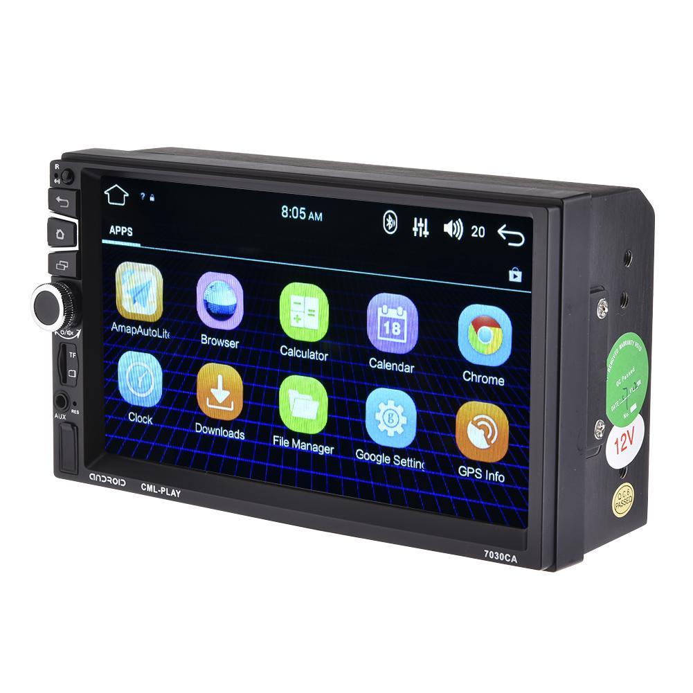 Lecteur Mp5 de voiture 7 pouces Android 2 Din Full HD 1080 P Port ISO double 2 Din Bluetooth R GPS navigateur HD vue arrière lecteur Radio FM