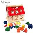 Multifuncional Digital De Madeira Casa Número de Blocos de Construção de Brinquedos Educativos Brinquedos Da Primeira Infância Das Crianças Das Crianças Do Bebê Bonito Digital