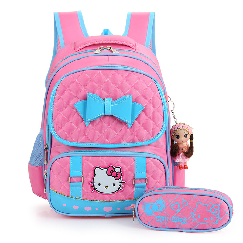 2017 new hello kitty backpack female girl school bags