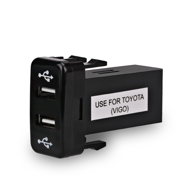 usb charger adapter port socket for toyota interface 12v. Black Bedroom Furniture Sets. Home Design Ideas
