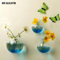 Hanging Wall Flower Fish Terrarium Tank Plant 1 Hydroponic Glass Casual x Aquarium Bowl Vase Fish Transparent Decor Fashion