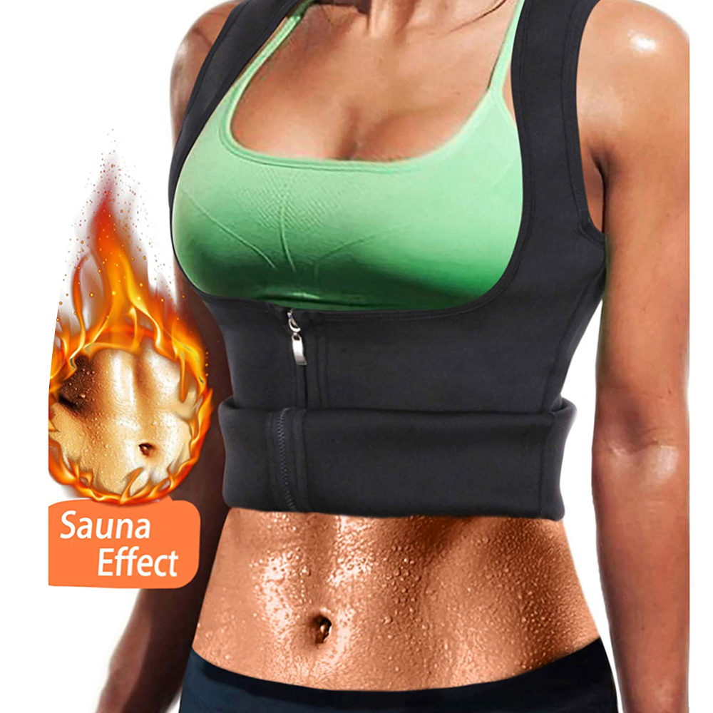 EXTREME Black Shapewear slimming thermo cami slim belt Neoprene body shaper Vest Sweat Sauna waist trainer corset Top *USPS*