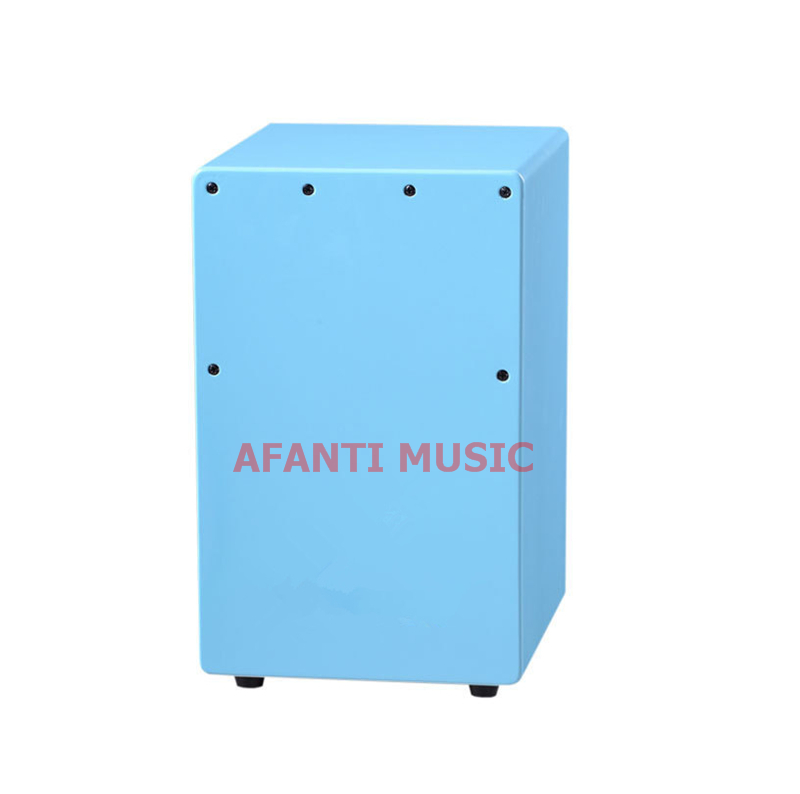 Afanti Music Birch Wood / Blue Cajon Drum (KHG 226)