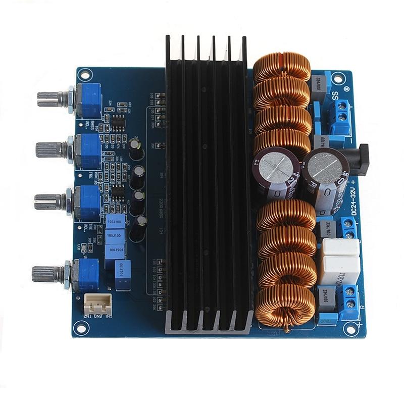 TDA7498 2.1 Channel Digital Power Class D Amplifier Board 200W+100W+100W DC24V high power 500w amplifier board d hifi dac digital class audio amplifier mono channel tube amplifier amp board code irs2092s