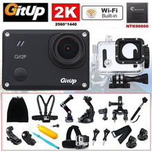 Gitup Git2P 1.5″ WiFi 2K 170 degree 1080P Waterproof Full HD Professional Video HDMI Action Sports Camera + 18Pcs Accessories