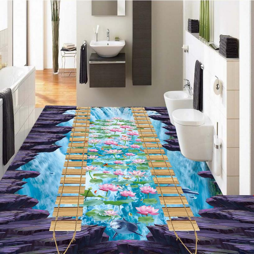 3d Floor Wallpaper Murals Aliexpress Com Buy High Quality 3d Floor Tiles Custom