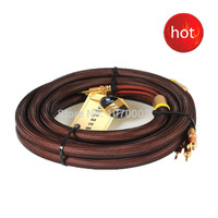 Choseal LB 5109 6N OCC Audiophile HIFI Speaker Cable 24K Gold Plated Banana Plug 2 5m