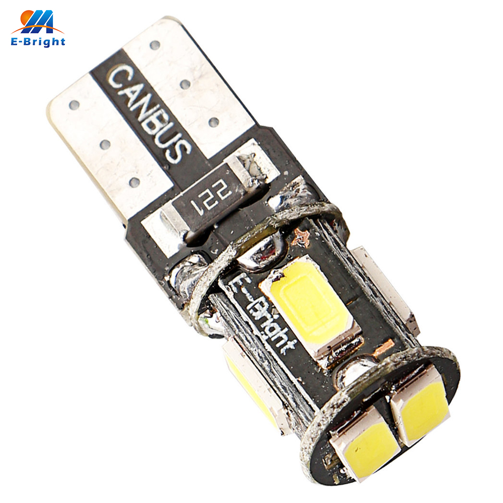 YM E-Bright <font><b>100PCS</b></font> <font><b>T10</b></font> W5W 194 168 5630 6 SMD Can-bus Error Free 6 Led White 6000K <font><b>Canbus</b></font> 180LM High Power image
