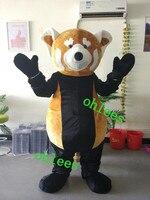 Ohlees заказ фактический реальное изображение персонажа мультфильма животных коричневый панда талисман костюм партии Рождество Хэллоуин Нео