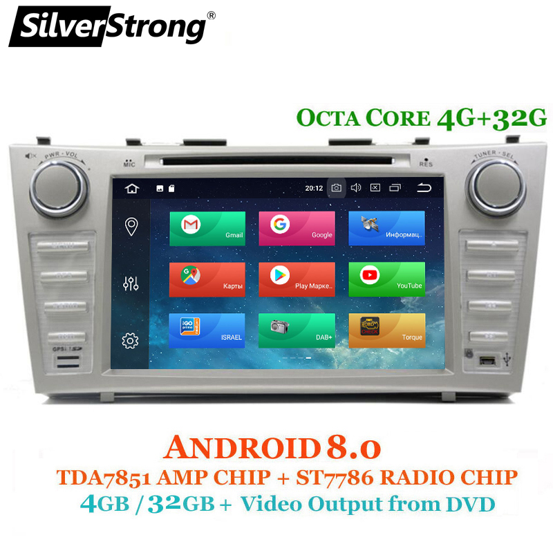 SilverStrong Android8.0 OctaCore Voiture DVD DSP magnétophone Pour TOYOTA CAMRY AURION Voiture 2din Android Navigation Radio GPS