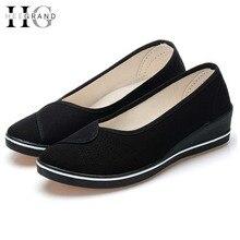 HEE GRANDWomen Trabajo Resbalón de Los Zapatos de Plataforma de la Cuña EspadrilleSapatos Femininos Zapatos Mujer XWD3268