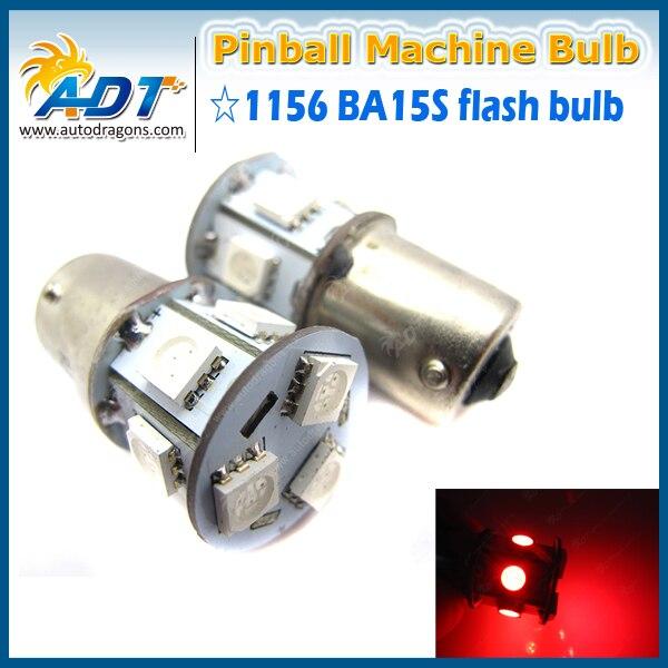 100PCS Non Ghosting Red AC 13V Ba15s 1156 #89 Flasher pinball led lights