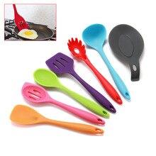 7 pcs utensil set-Cooking Utensil Set NonStick nylon kitchen set cooking spoon turner spatula soup ladle