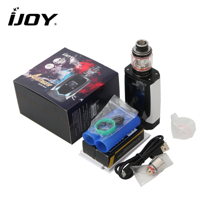Original IJOY Avenger 270 Kit Electronic Cigarette 234W Box Mod 4.7ML AVENGER SUBOHM Tank with Dual 20700 Battery