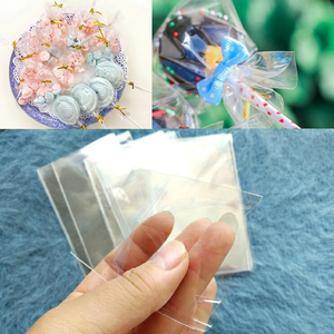 Transparent Plastic Bags Lollipop Cookie Bags Candy Bar Wedding Party Favors Candy Wrapper Baby Shower Packing Bags Gift Bags