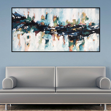 RELIABLI Abstract House Canvas Painting Wall Art Canvas Prints Pictures For Living Room Modern Pictures Home Decoration