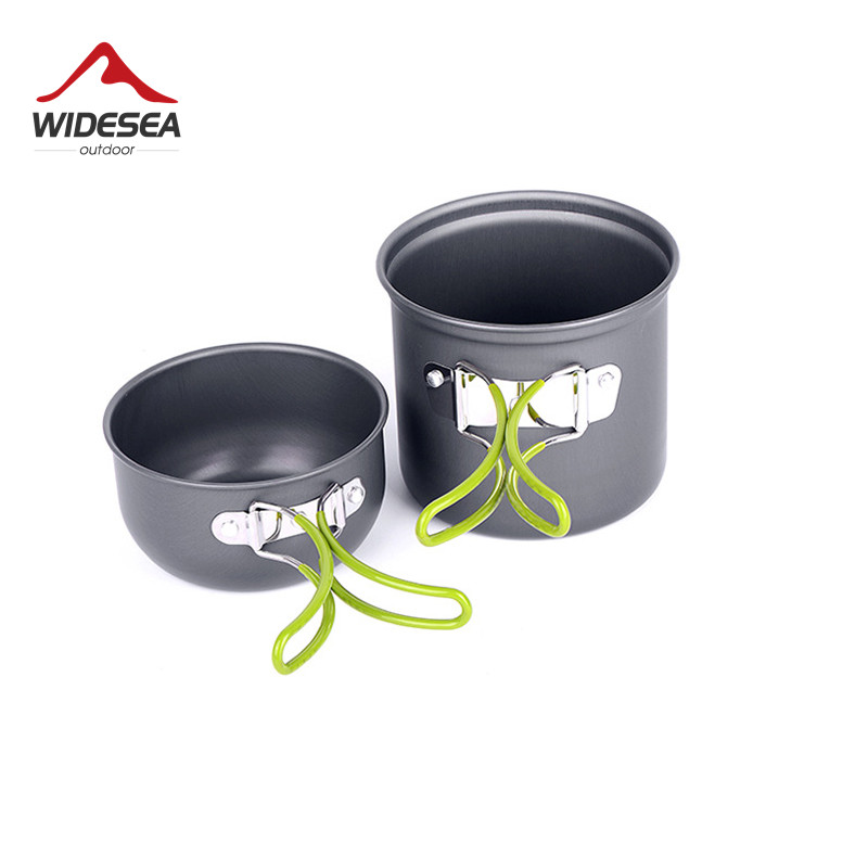 Outdoor Tablewares Ultralight Camping Cookware Utensils Outdoor Tableware Set Hiking Picnic Backpacking Camping Tableware Pot Pan 1-2persons Camping & Hiking