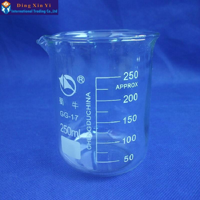 1PC SHUNIU 250ml glass beaker laboratory glassware dropshipping1PC SHUNIU 250ml glass beaker laboratory glassware dropshipping
