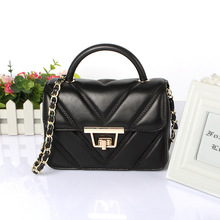 2016 new geniune leather Packet sheepskin women bags Shoulder Messenger small square package