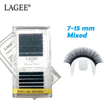 Get more info on the LAGEE 7-15mm Mix Tray Premium Synthetic Mink Lash Natural Long Individual Soft False Eyelash Extension Makeup cilios