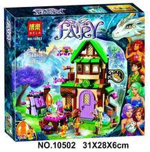 2016 New Bela 10502 348Pcs Friend Elves The Starlight Inn Model Building Kits Minifigure Blocks Bricks Compatible Girl Toy 41174