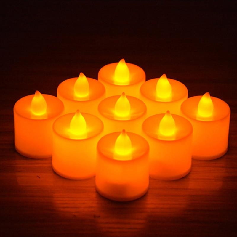 Candles Tealight Led Tea Light Flameless Flickering Wedding Home Room Decor