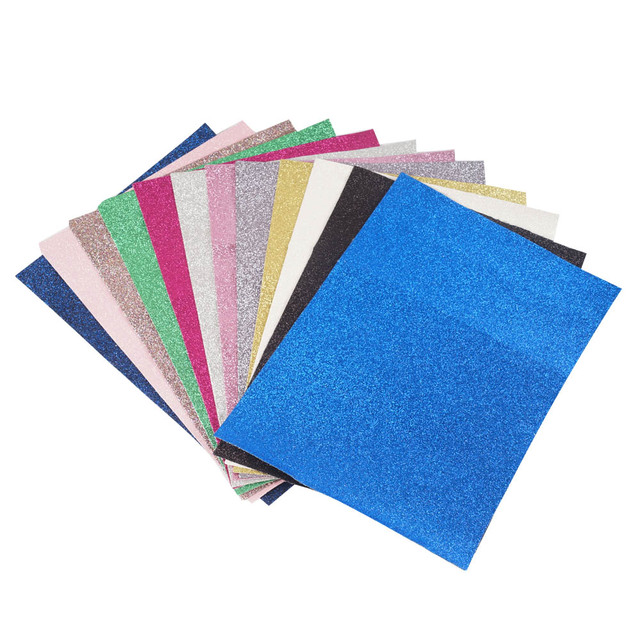 12pieces/pack 22CM*30CM Glitter Fabric Material For Christmas DIY Bow Shoes Handbags Bling glitter Apparel Sewing Fabric