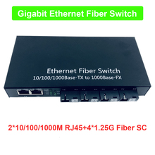 Commutateur Ethernet Gigabit de qualité industrielle 4 ports 1.25G fibre et 2 RJ45 passif bidirectionnel fibre optique convertisseur de médias PCB
