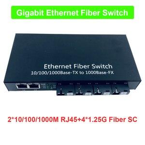 Image 1 - Industrial Grade Gigabit Ethernet Switch 4 Port 1.25G fiber &2 RJ45 bi directional passive fiber optic media converter Board PCB