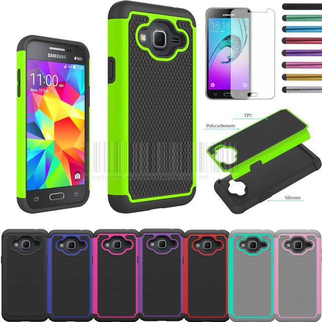 outlet store 18894 29af6 Phone Case For AT&T Samsung Galaxy Express Prime Dual Layer Rubber ...