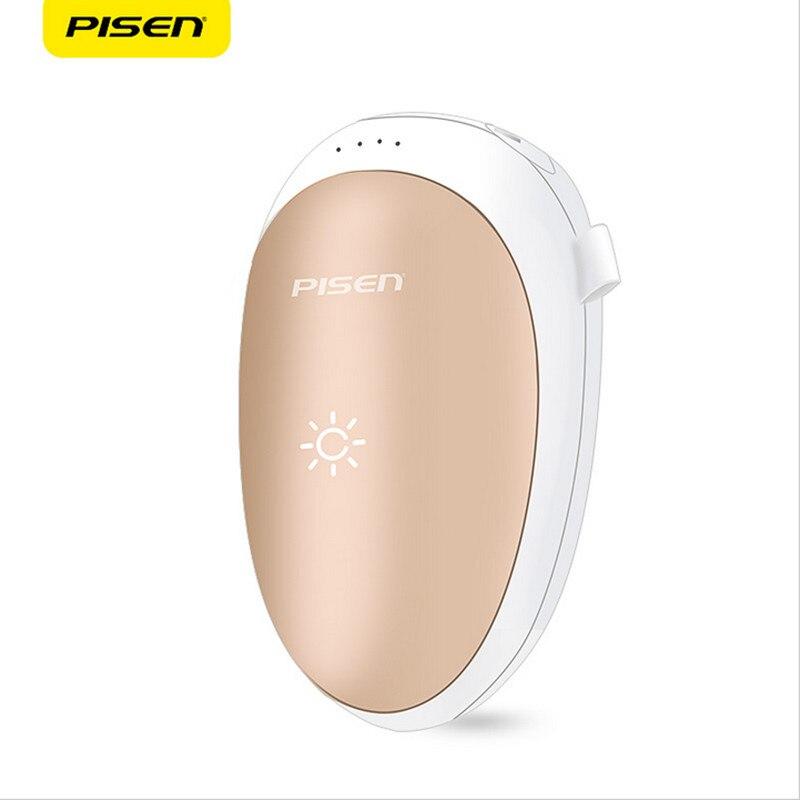 imágenes para Pisen ts-d198 bolsillo calentador de la mano portable banco de la energía 7500 mah móvil batería externa powerbank wamer mano de mano al aire libre