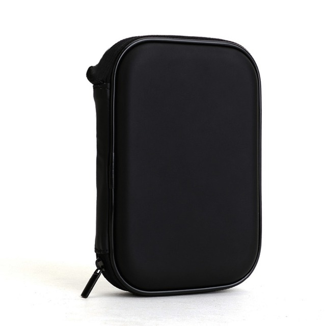 High Quality universal Black Portable Zipper External 2.5 HDD Bag Case Pouch For Protection For 2.5 GPS Hard Disk Drive Helper